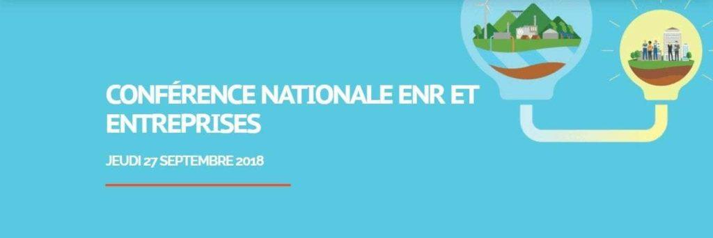 Conférence EnR Entreprises - 27 septembre 2018