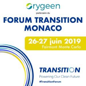 Orygeen sera présent au Forum Transition 2019 à Monaco