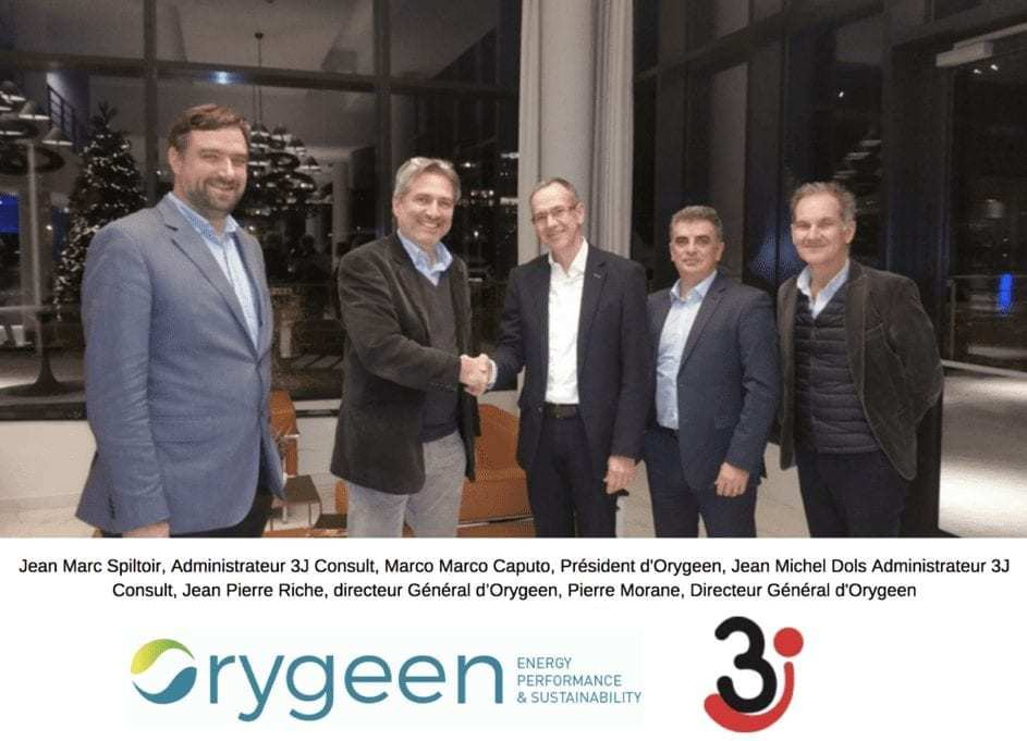 Jean-Marc Spiltoir et Jean-Michel Dols de 3j-Consult avec les Dirigeants d'Orygeen